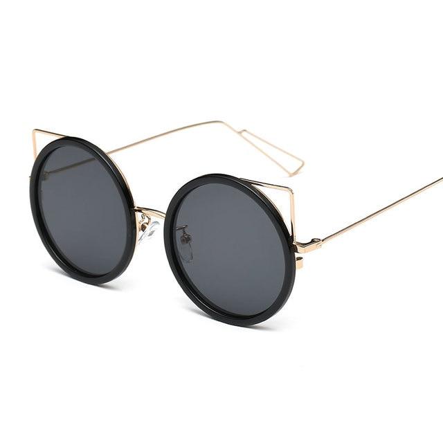 4673eeaaecdd8 MENINA Moda Mulheres Óculos De Sol Clássicos óculos de sol Grande Frame  Redondo Shades Marca Designer