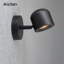 Aisilan настенный светильник в современном стиле настенный светильник регулируемый черный/белый 7 Вт для спальни фойе зеркало свет коридор бра AC90-220V