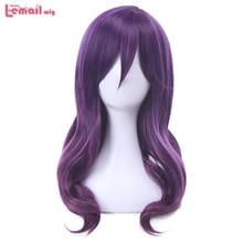 L e mail perücke Neue Watashi ga Motete Dousunda Kae Serinuma Cosplay Perücken 45cm Lila Wellenförmige Synthetische Haar Perucas cosplay Perücke