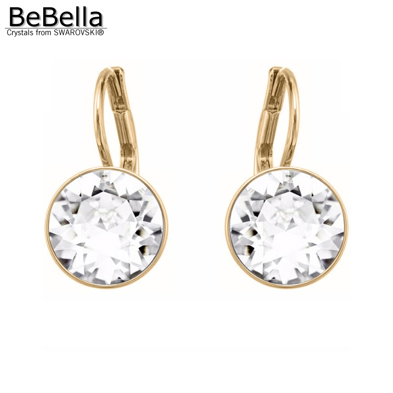 d1ecad6f7 BeBella mini bella pierced earrings with Crystal from Swarovski gold color  plated clear for women girl