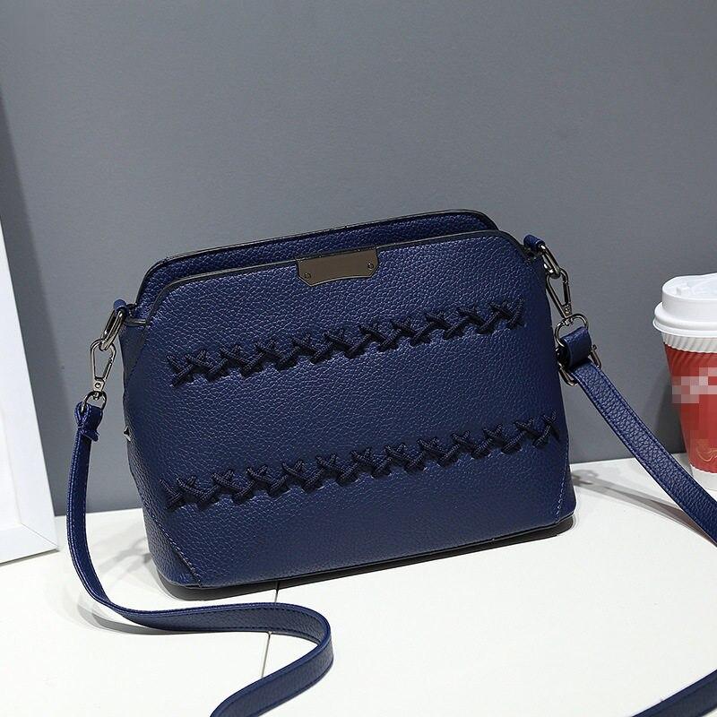 Casual PU Dark Blue Women Shoulder Bag Elegant Envelope Ajustable Strap Crossboday Messenger napapijri guji check dark blue