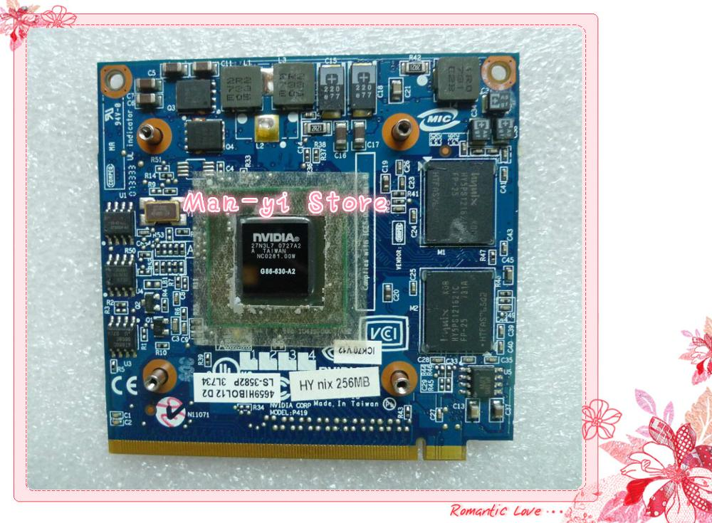 For NVidia Fo GeForce 8400M G MXM IDDR2 256MB Graphics Video Card For Acer Aspire 5920G 5520 5520G 4520 7520G 7520 7720 G