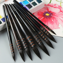 BGLN 1Piece Handmade Squirrel's Hair Artist Watercolor Paint Brush Pointed Painting Brushes For Watercolor Art Supplies 22RQ