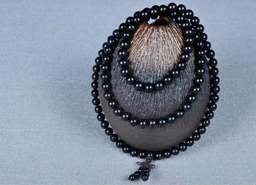 Unisex Prayer Wooden Beads Tibetan Buddhist Mala Buddha Bracelet Rosary Bangle