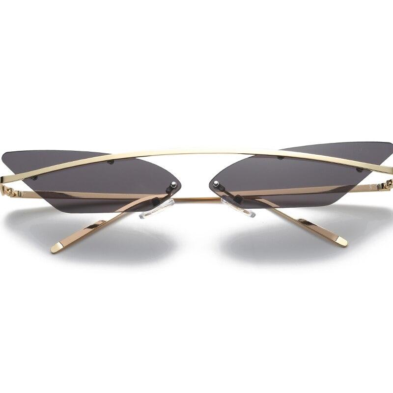 Brand Rimless Cat Eye Sunglasses Women Mirror Pink Black Sunglasses fending  women 90s sunglasses Bril lunette de soleil femme-in Sunglasses from  Apparel ... 714f58d5eee6