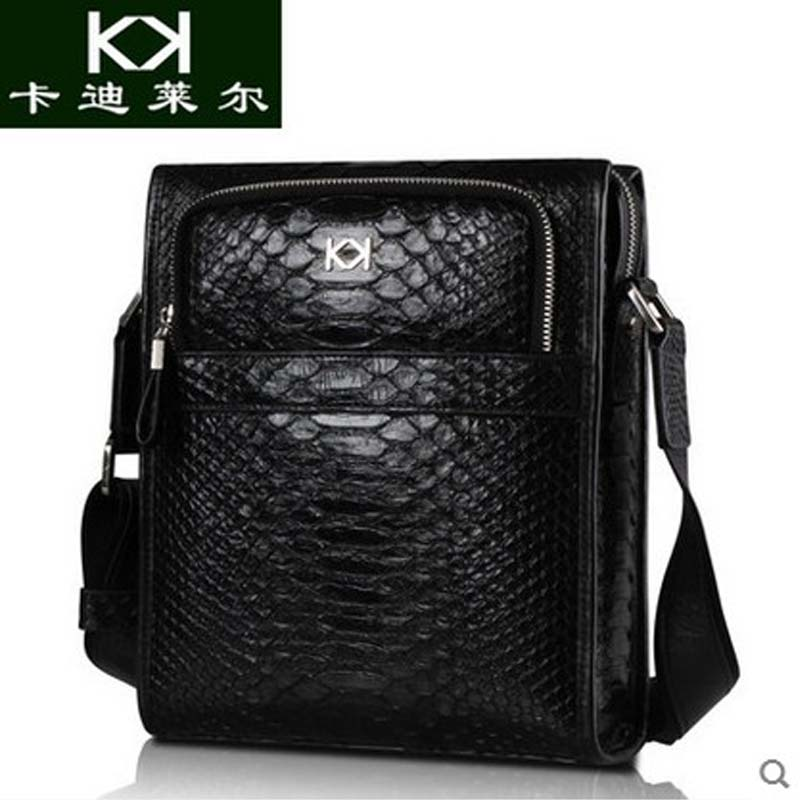 KADILER 2017 new hot free shipping Import python skin male bag  high-end leisure business bag male bag one shoulder bag free shipping 2014 boom bag leisure contracted one shoulder bag chain canvas bag