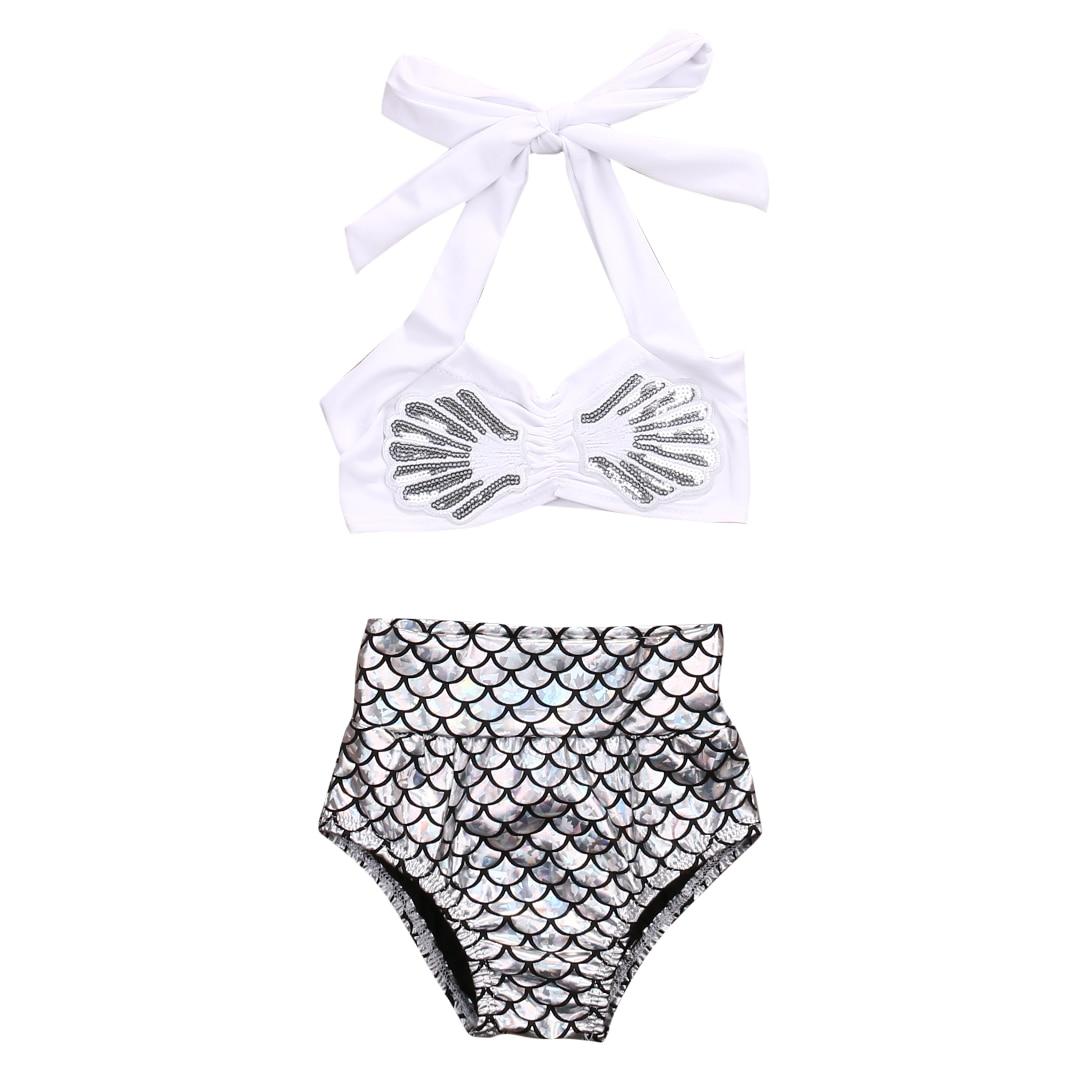 Girl Tankini Bikini Set Summer Swimwear Swimsuit Bathing Suit Beachwear 2PCS Children Clothing Set