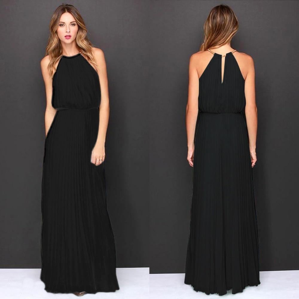 e6c5fe599084 Summer Women Sexy Long Party Dresses 2016 Sleeveless Elegant Casual ...