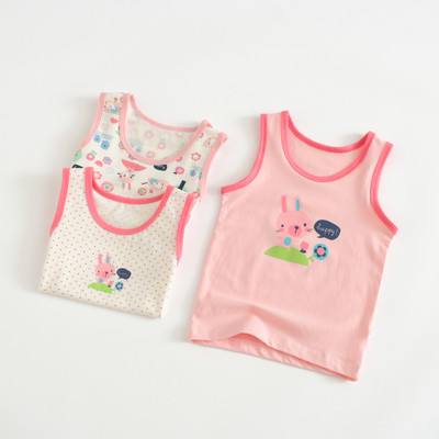 VIDMID Baby Girls tanks tops girls cotton Camisoles vests girls new candy color kids underwear Tanks Camisoles clothes 7068 01 3