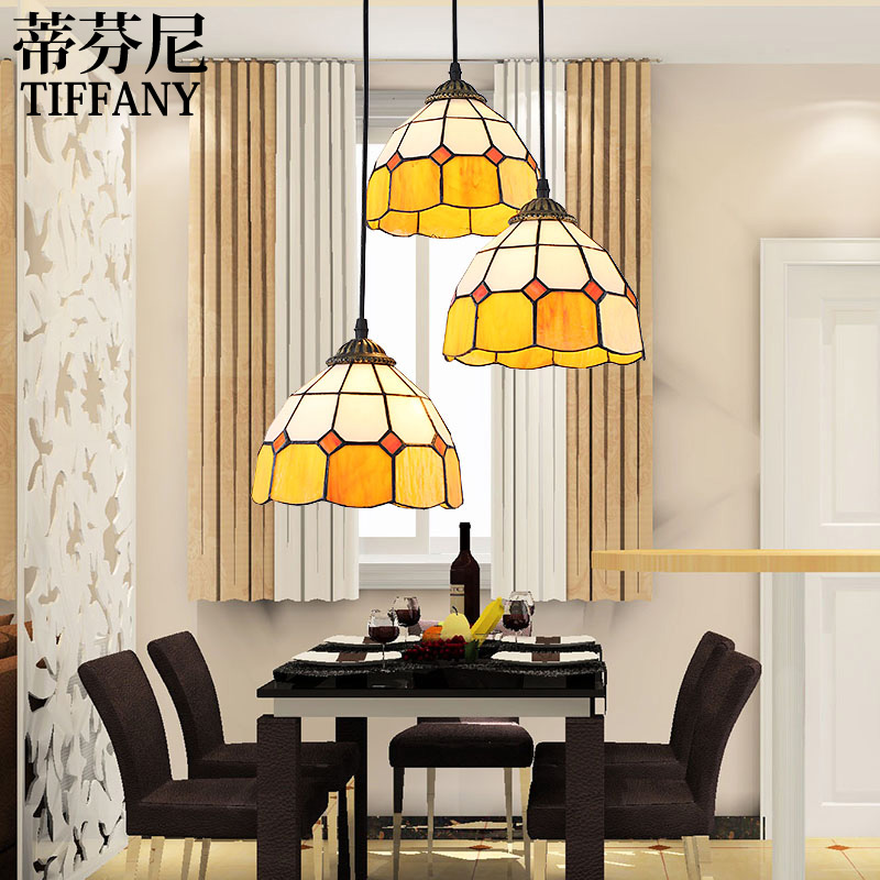 Restaurant lamp Iron Chandelier Lamp bar art Tiffany European style living room bedroom painted glass chandelier hghomeart chandelier european style copper chandelier living room chandelier lighting bedroom restaurant retro chandelier