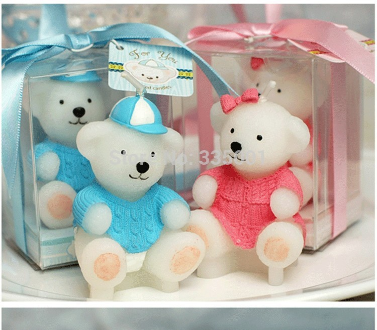 baby shower party favor candle for guests birthday party candles sweater animal bears small candle gift 80pcslot