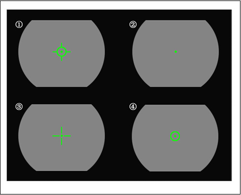 mira reflex scope quatro reticulas para caca os2 0076