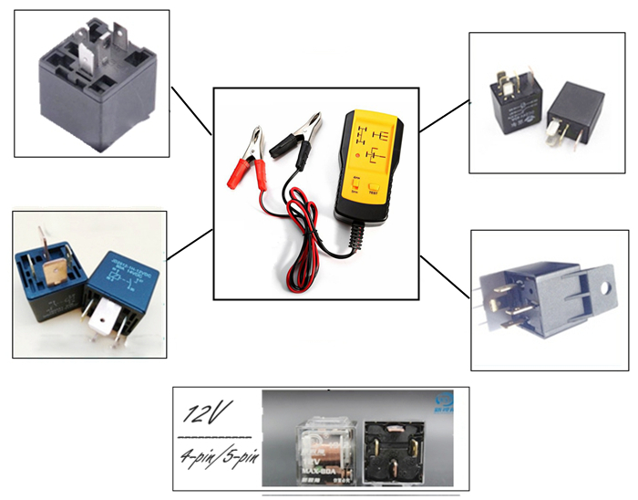 AE100 Automotive Relay Tester for 12V Car Auto Battery Checker Electrical Testers & Test Leads