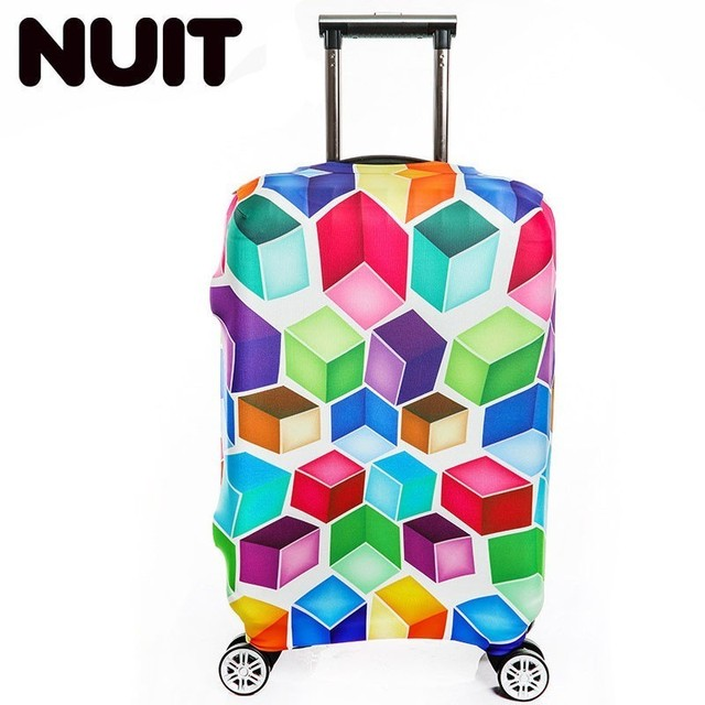 4ba2e8128 Travel On Road Colorful Geometric Luggage Cover Protective Covers Suitcase  Cover Trolley Case Travel Luggage Dust