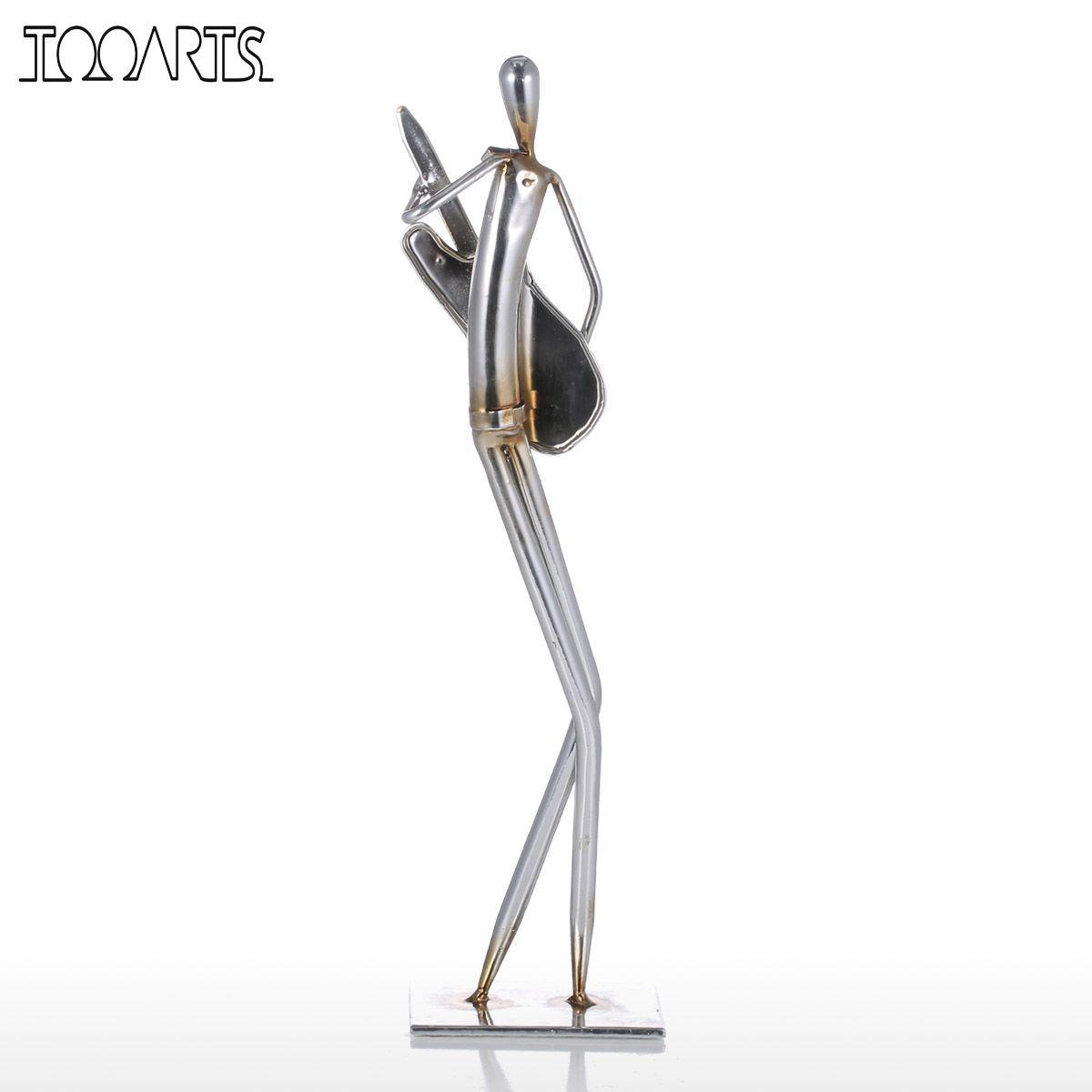 Tooarts Metal Sculpture Orchestra Trumpet Iron Sculpture