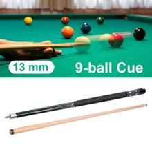 13MM Cue Tip Green Hardwood Maple Billiard Pool Stick Snooker 9-ball Double Joints Jump Rod Kick