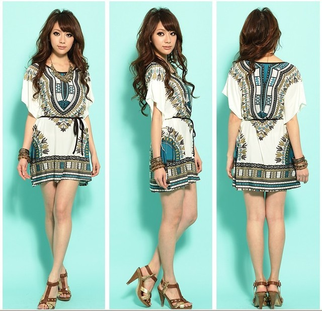 b4281a4ef734 2015 Summer Fashion Women s Dresses Casual Print Bohemian Dress For Women  Short Sleeve Dress Indian Printing Dress