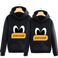 Wholesale Duck Cartoon Print Hoodies Adult Loves O Neck Long Sleeve Pullover Fleece Sweatshirts Sportswear Outfit F1006