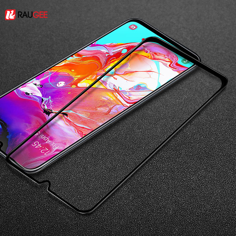 Raugee Glass For Samsung Galaxy A40 Tempered Glass Screen Protector Scratchproof Screen Glass Film For Samsung A40 A50 A30 A70