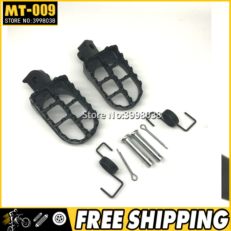 Black Aluminium Foot Pegs Footrests For Yamaha PW 50 PW50 PW80 TW200 Dirt Bikes