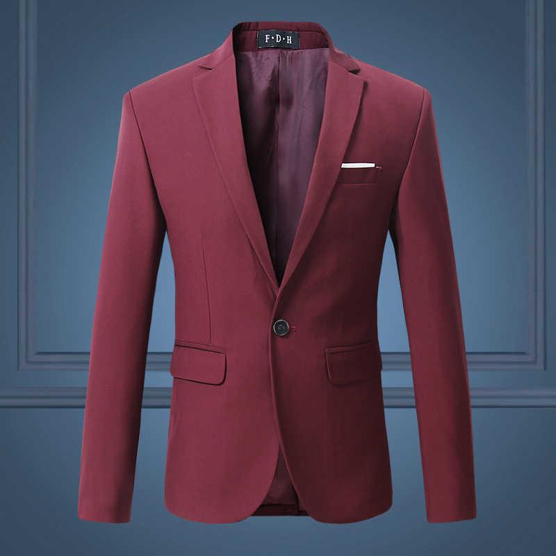 高品質紳士男性スリムカジュアル白いスーツ、大サイズブランドメンズビジネスカジュアル流れの純粋な色ブレザー男性