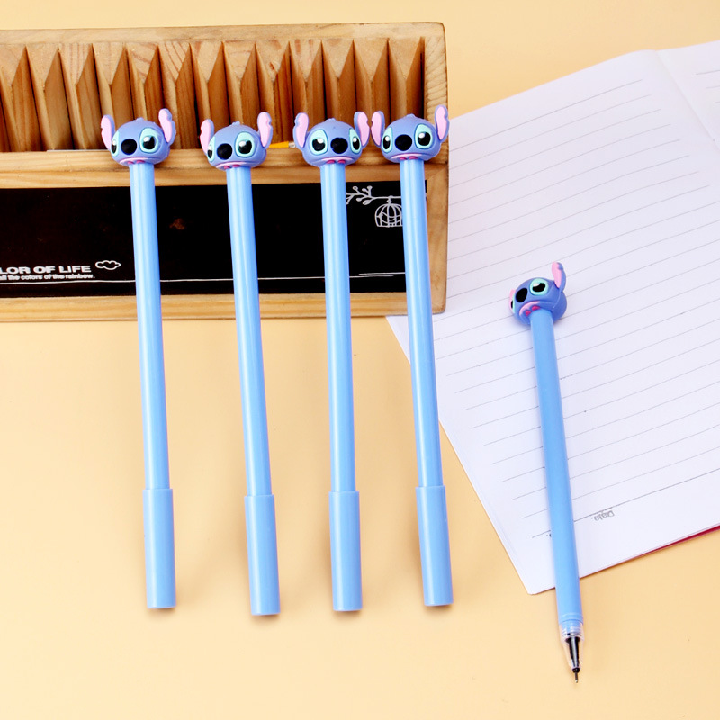 36 Pcs/lot Stitch Gel Pen Cute 0.5 Mm Black Ink Signature Pen Office School Writing Supplies Stationery Gift