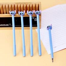 Stylo Gel au point, 36 pièces/lot, stylo Signature à encre noire mignonne 0.5mm, fournitures scolaires et de bureau, papeterie cadeau