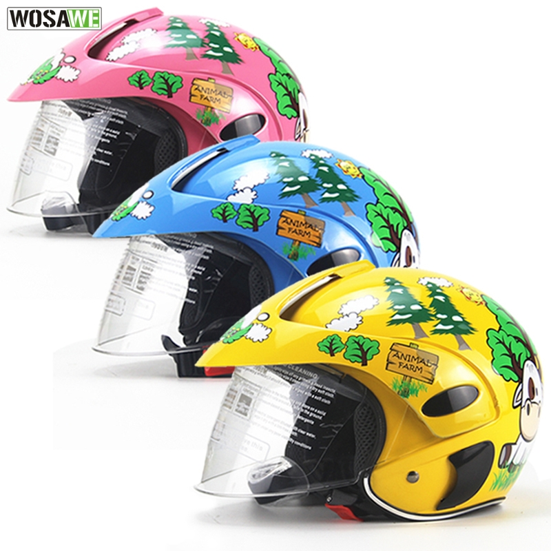 WOSAWE Children Motocross Ful Face <font><b>Helmet</b></font> Motorcycle <font><b>Kids</b></font> <font><b>Helmets</b></font> Motorbike Childs <font><b>MOTO</b></font> Safety Headpiece Protection Gear image