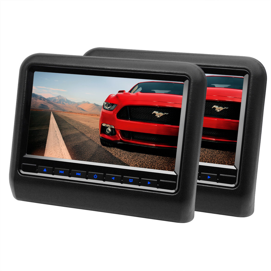 2 Pieces 9 Inch Car Headrest DVD Player Monitor With 800
