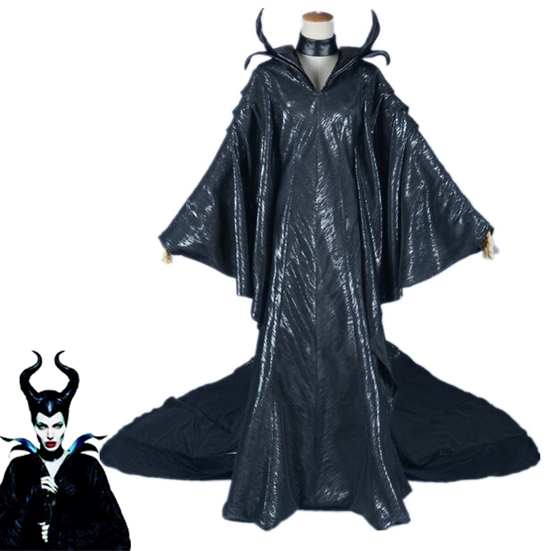 Us 25 59 20 Off Movie Maleficent Black Witch Angelina Jolie Princess Maleficent Cosplay Fancy Dress Canraval Halloween Costume Maleficent Horn In