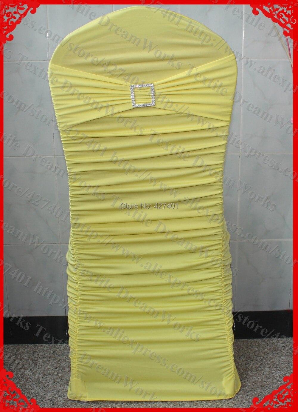 ღ ღN° 37 amarillo rizado lycra silla Tapas con lycra banda/marco y ...