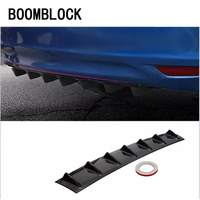 Car Bumper Chassis Shark 7 Wings Modified Spoiler For BMW E90 F30 F10 Audi A3 A6 C5 C6 Opel Insignia Alfa Romeo Ssangyong