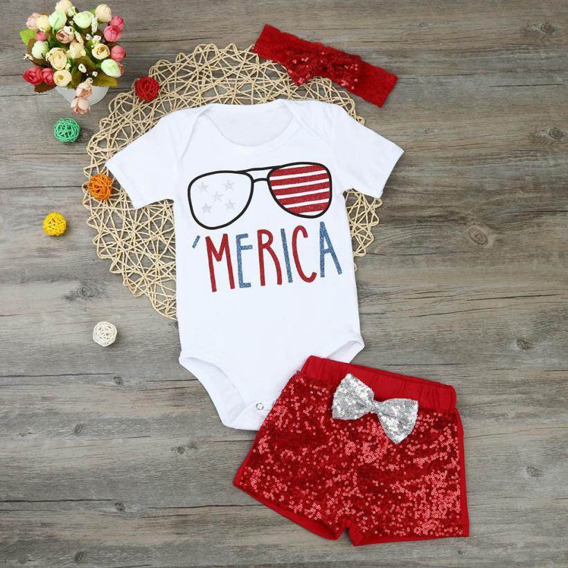 TELOTUNY 2018 Newborn Baby Girl 4th Of July Patriotic Romper Shorts Pants Clothes Outfits Set For Girls Clothes Set FEB6TELOTUNY 2018 Newborn Baby Girl 4th Of July Patriotic Romper Shorts Pants Clothes Outfits Set For Girls Clothes Set FEB6