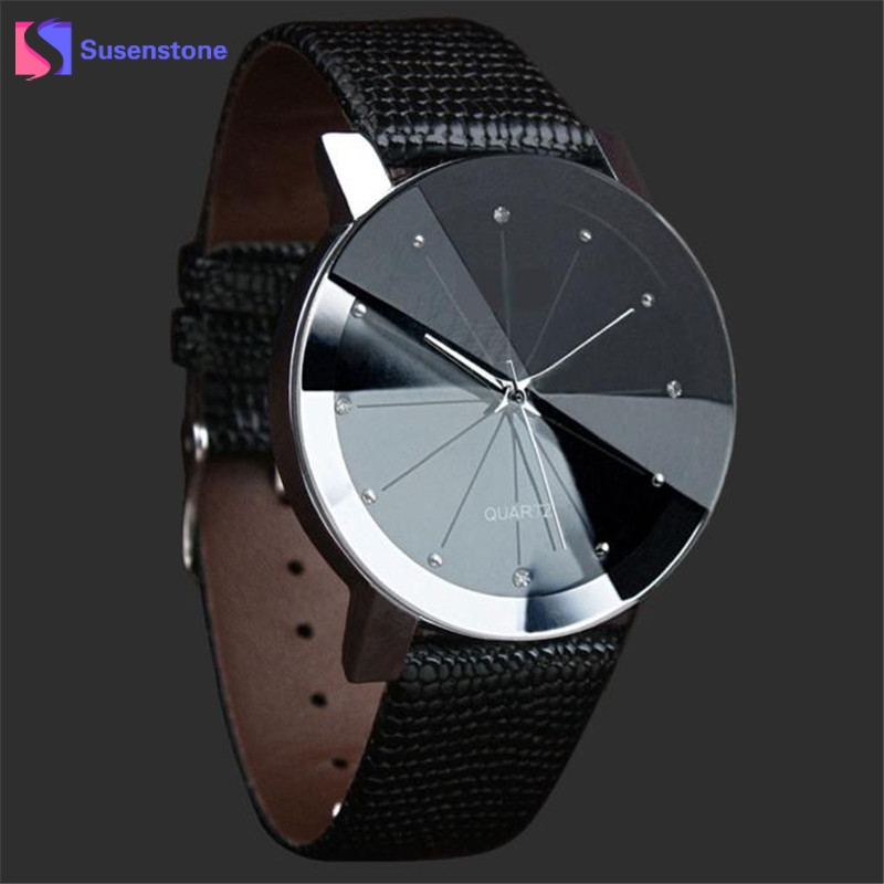 2017 mg orkina fashion men s crystal quartz stopwatches stainless steel wristwatch gift with box free ship Fashion Quartz Watch Stainless Steel Dial Male Clock Faux Leather Wristwatch Men Crystal Casual Watches Relogio Masculino