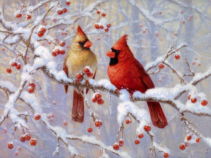 Diamond Painting Cross Stitch red birds diamond Embroidery