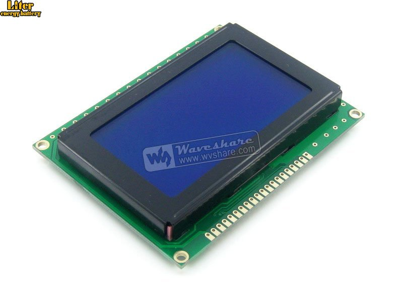 Graphic Matrix LCD 12864 LCM Display Module128*64 DOTS, White Character, Blue Backlight, 5V For Logic Circuit Blue Backlight