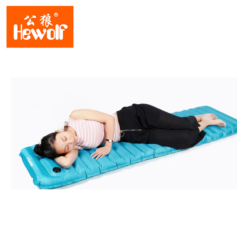 Hewolf Outdoor Automatic Inflatable Air Mat Inflator Mattress Water Games Sleeping Bed Camping Tent Picnic Waterproof Pad free shipping 10 2m inflatable air track inflatable air track inflatable gym mat trampoline inflatable gym mat