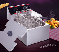 전기 깊은 프라이어 상업 6l/8l 단일 실린더 체 전기 프라이팬 튀김 닭 새로운