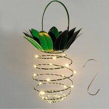 JXSFLYE Garden Solar Lights Pineapple Path Light  Hanging Outdoor Decor Waterproof Fairy Iron Wire Art Wall lamp