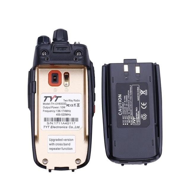 2pcs tyt th-uv8000d walkie talkie 10watts cross-band repeater dual band vhf uhf handheld fm transceiver 10km ham radio