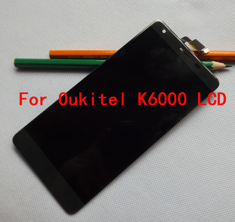100 Original For Oukitel K6000 LCD Display Touch Screen Digitizer Replacement Ffree Shipping