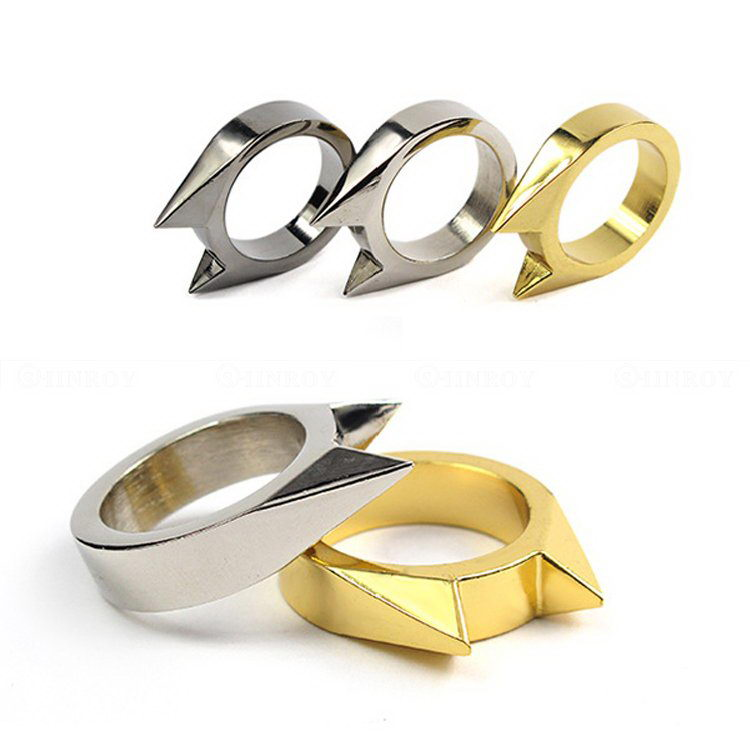 Mini Alloy Defensive Ring Self Defense Weapons Broken Windows Device Rescue Gear Portable Survival EDC Tool