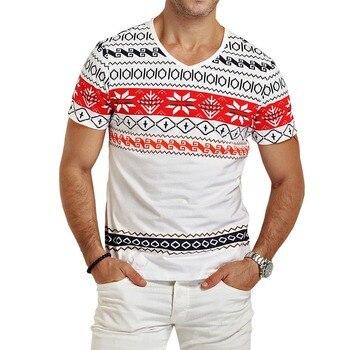 Мужская футболка с принтом и коротким рукавом