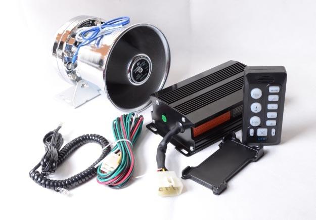 ФОТО 200W Electronic Horn Car Alarm Siren Stainless Steel Speaker ESV6203 9 Tone Loudspeaker Horn Car Styling Police Horn Buzzer