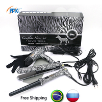 FMK Professional 3 In 1 Hairs Styling Tools Set Curling Iron Hair Dryer Hair Straightener White