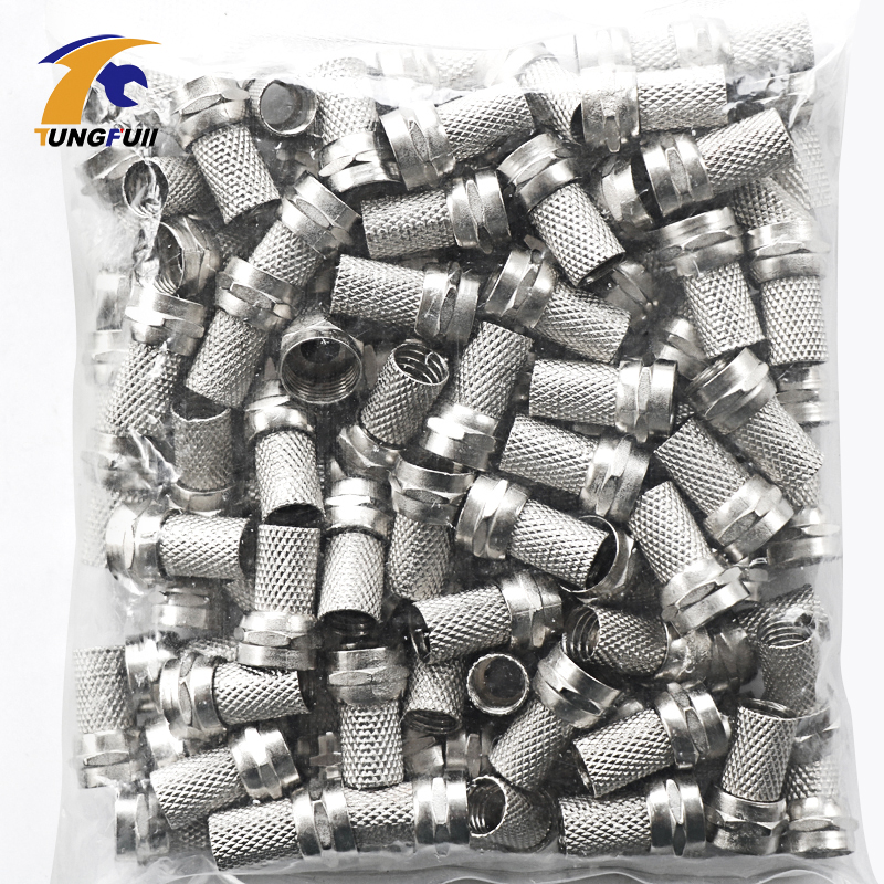 New Copper 100 Pcs Twist On RG6 F Type Coaxial Cable Connector Plugs High Quality Connector For TV Satellite Virgin Cable sale 100 pcs rg6 f adapter coax coaxial compression type crimp on connector for tv coax cable satellite connector