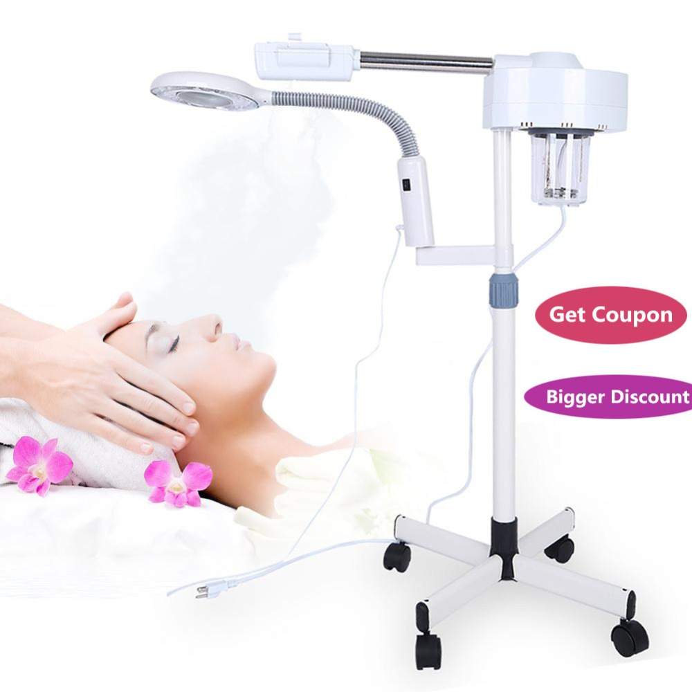 Steam Stand Magnifier Beauty Lamp Magnifying Lighted Beauty Salon Tool Nail Cold Makeup Light Skin Care