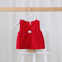 Free Shipping,3 colors,2016 Spring New,baby girls rose flower vests waistcoats,Children/kids lace tops,Wholesale