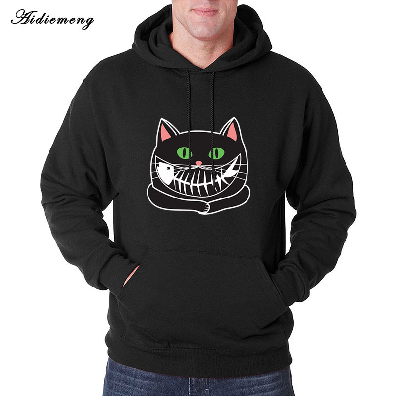 Hoodies Men 2018 Autumn Brand Men Hoodies Sweatshirts Funny Print Cartoon Hoody Casual Male Sportwear Hip Fleece Winter Clothing