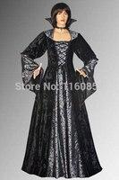 Medieval inspirado gótico vampiro drácula elegante dress handmade em veludo várias cores disponíveis